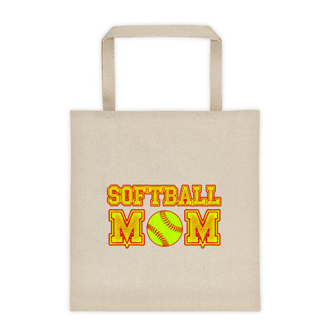 """Softball Mom"" Tote bag"