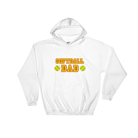 """Softball Dad"" Hooded Sweatshirt"