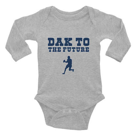 """Dak To The Future"" Infant Long Sleeve Bodysuit"