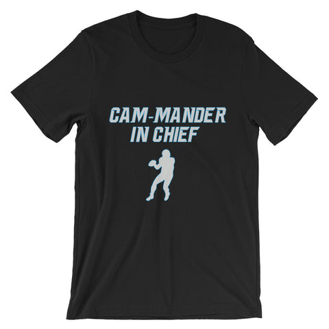 """Cam-mander In Chief"" Unisex short sleeve t-shirt"