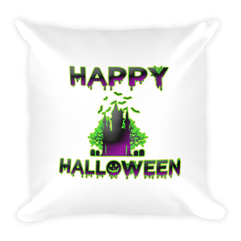 """Happy Halloween"" Square Pillow"