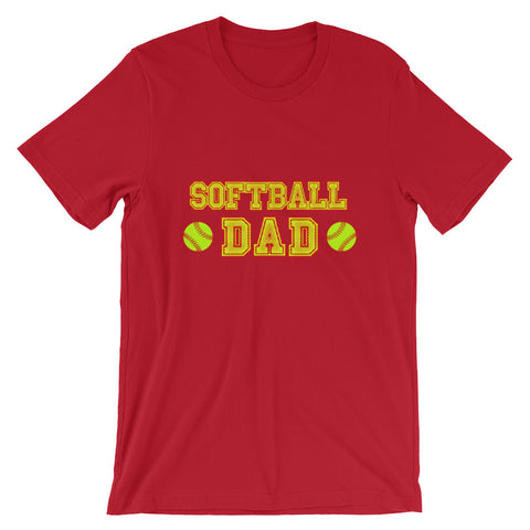"""Softball Dad"" Short-Sleeve Unisex T-Shirt"