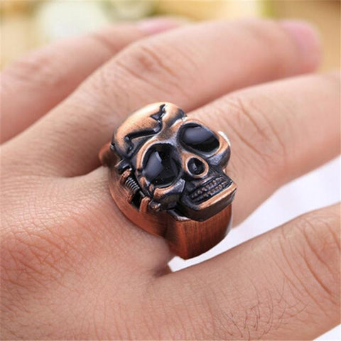 Image of Retro Skull Ring & Watch