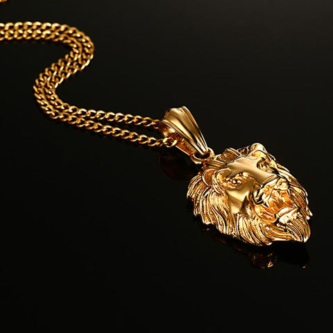 Image of Golden Plated Lion Necklace