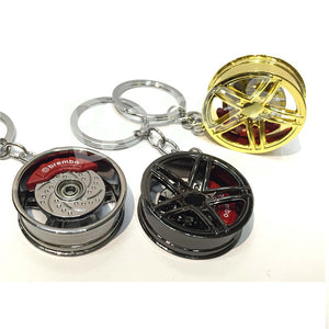Car Wheel Rim Key Chain