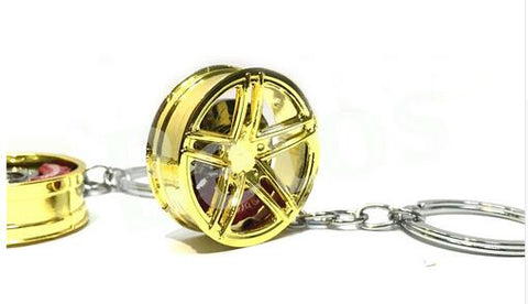 Image of Car Wheel Rim Key Chain