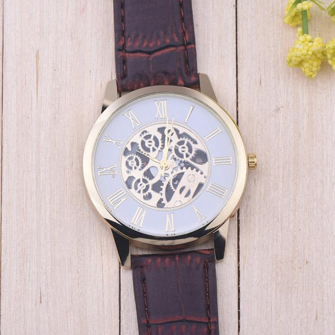 Digital Faux Leather Watch