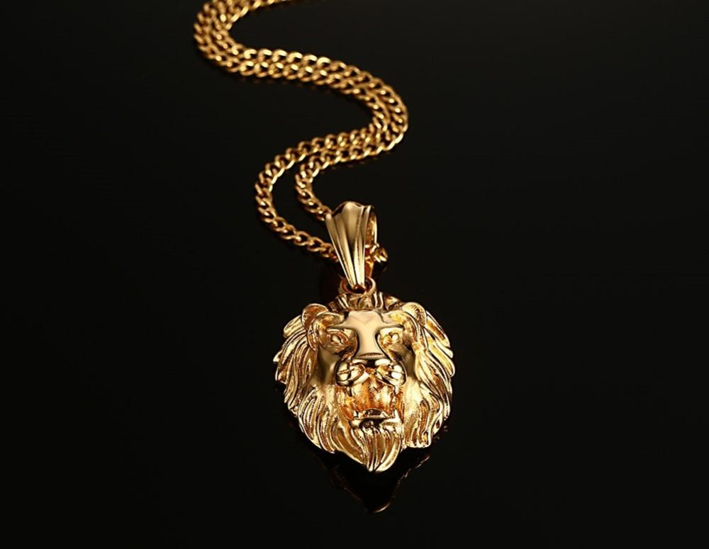 Golden Plated Lion Necklace