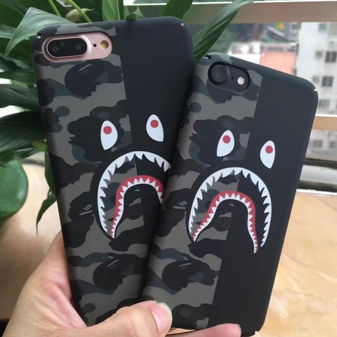 Image of Camo Shark Phone Case For iPhone