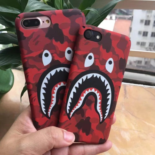 Camo Shark Phone Case For iPhone
