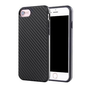 Premium Hybrid Black TPU Silicon Carbon Fiber Back Cover Case For Apple iPhone 7 6 6S Plus 7Plus SE 5S Black Back Phone Cases