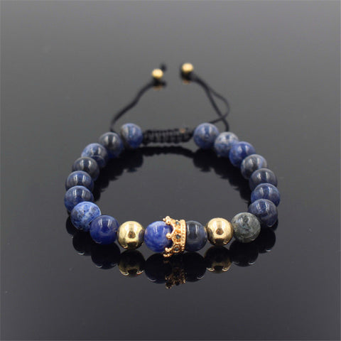 Image of Blue Stone Crown Bracelet