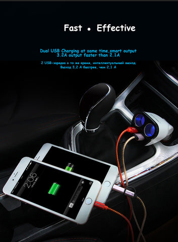 Image of Car Adapter Socket Splitter Converter 5V 1A/2.4A