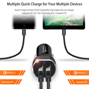 Car Charger Equipped with Quick Charge 3.0