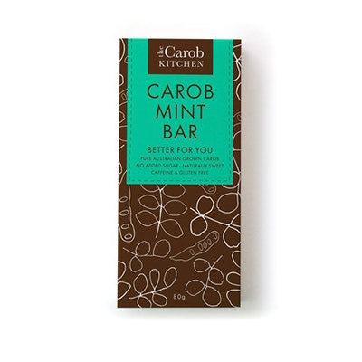 80g Mint Carob Kitchen Bars