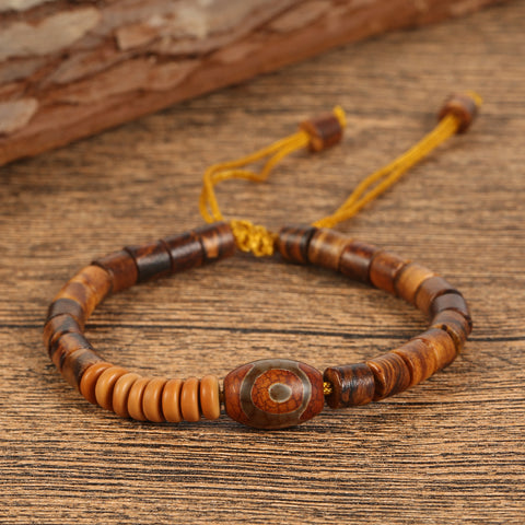 Handmade Natural wood beaded out of Coconut Shell and Olive Shell