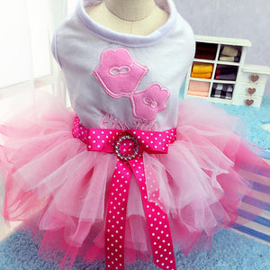 Cute Girl Lace Tutu Dresses for Puppies and Dogs