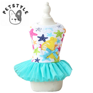 Colorful Star Little Horse Summer Dresses for Puppies and Dogs