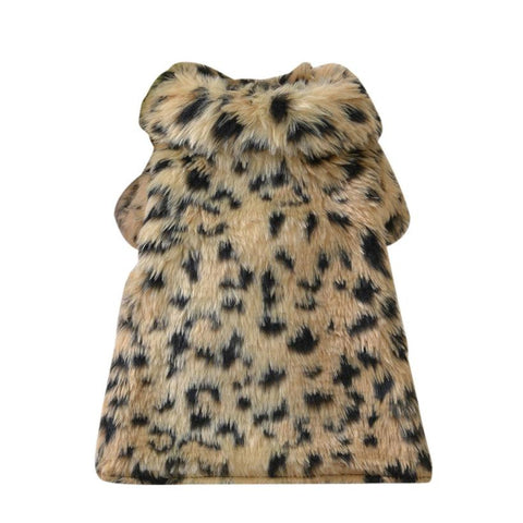 Cute Girl Faux Fur Dresses for Puppies and Dogs