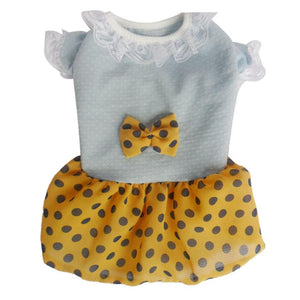 Cute Summer Polka Dot Dresses for Puppies and Dogs