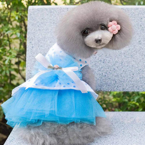 Cute Romantic Princess Gauze Skirt Tutu Dresses for Puppies and Dogs
