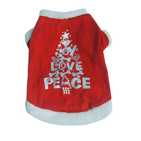 Joy Love Peace Christmas Dresses for Puppies and Dogs
