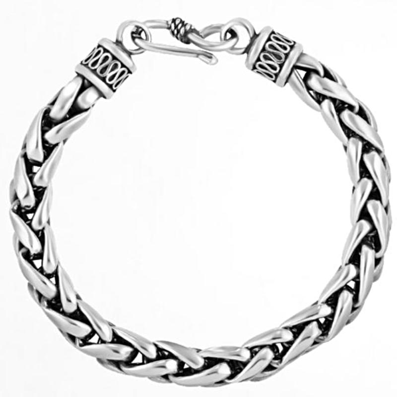 Birds Cage Medium Chain Silver Luxury Bracelet