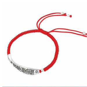 Buddhist Fish Lucky Knot Rope Bracelet