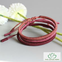 Tibetan Buddhist Lucky Knot Rope Bracelet - Passion