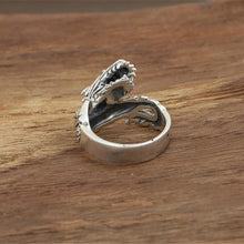 Sterling Silver Vintage Dragon Ring