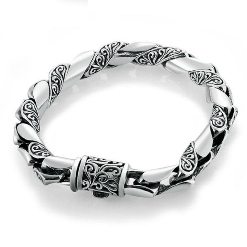 Swirling Wind Limpid Silver Luxury Bracelet