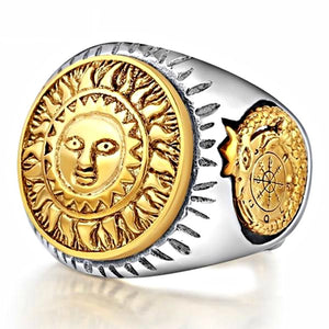 Solar Galaxy Compass Silver Ring