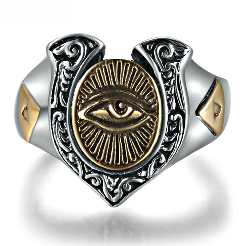 Shiva's Regal Spiritual Silver Ring