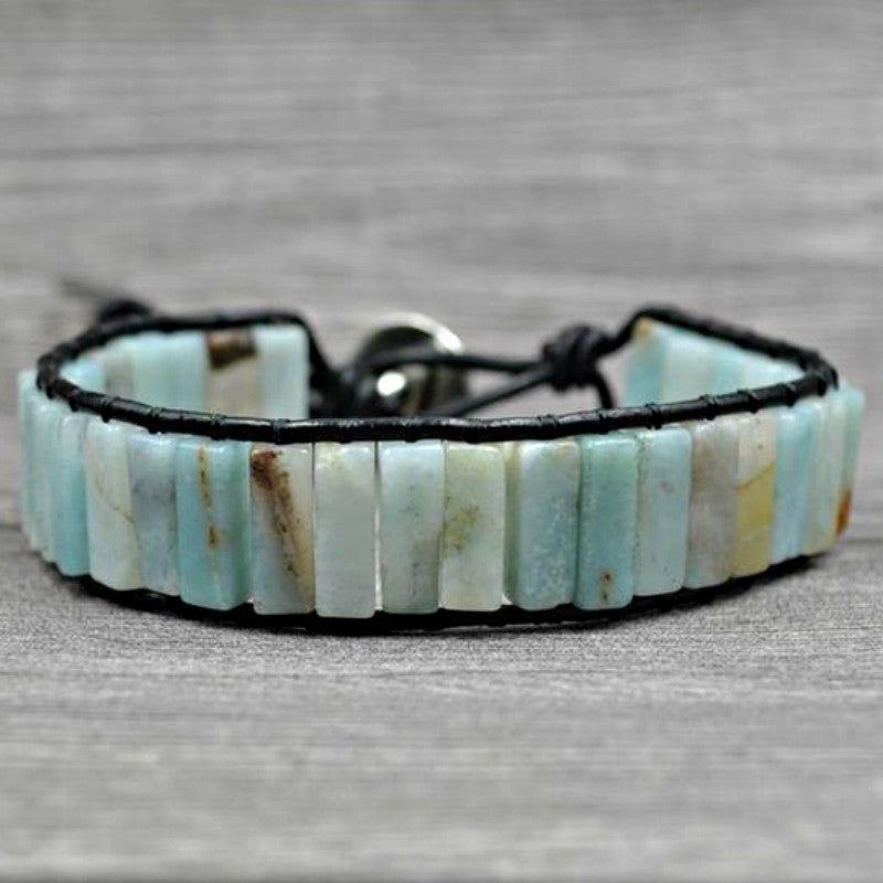 Natural Amazonite Energy Bracelet