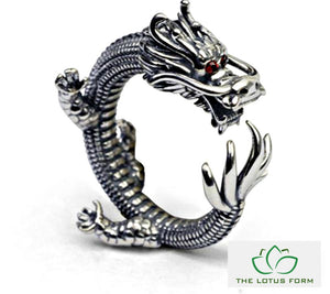 Legendary Dragon Silver Ring