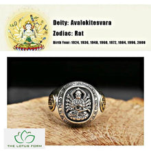 Eight Patron Saint Buddha Silver Ring