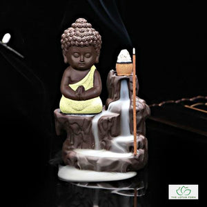 Cute Buddhist Monk Incense Burner