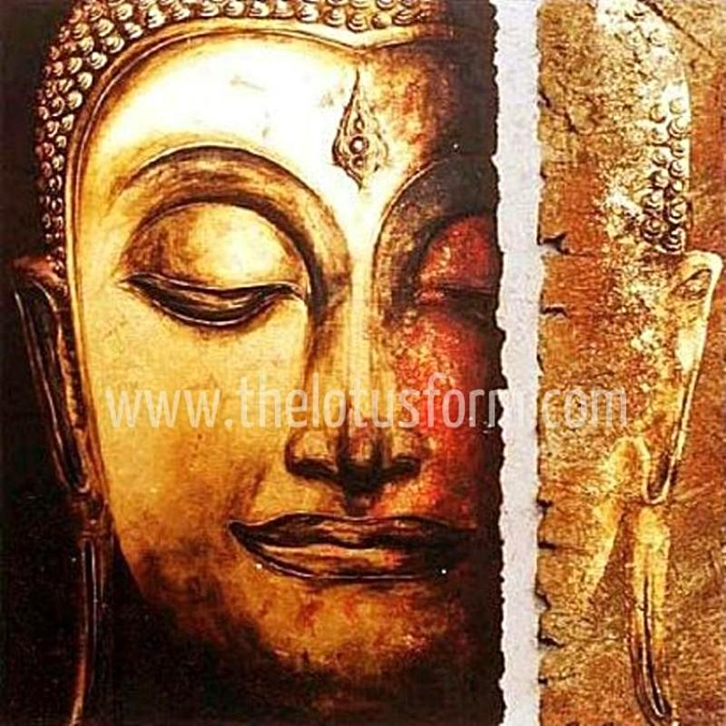 Limited Edition Golden Buddha Meditation Oil Painting (BD5)
