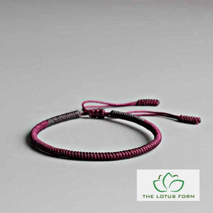 Tibetan Buddhist Lucky Knot Rope Bracelet - Happiness
