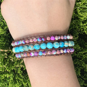 Jasper Boho Three Layers Bracelet