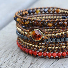 Balancing Tiger Eye And Hematite Wrap Bracelet