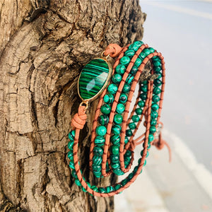 Calming Green Amazonite Triple Wrap Bracelet