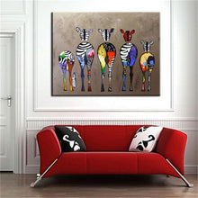 Zebra Abstract Pop Art Oil Painting