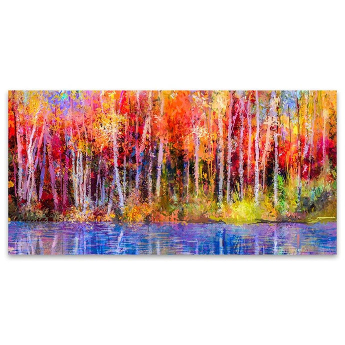 Autumn Woods Abstract Canvas Wall Art