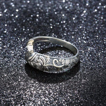 Buddhist Fish Lotus Silver Ring