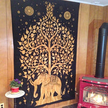 Indian Elephant Tree Of Life Tapestry