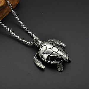Tortuga Turtle Stainless Steel Pendant Necklace