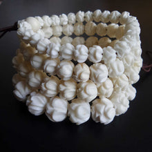 Tibetan Yak Bone Lotus Carved Bracelets