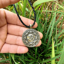 Sacred OM Lotus Mandala Pendant Necklace