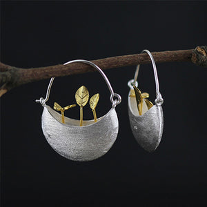 Sweet Garden Vintage Silver Drop Earrings